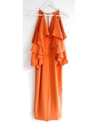 Cushnie et Ochs Robe en Soie Orange