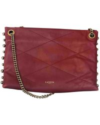 Lanvin Sugar Leather Handbag - Red