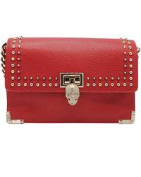 Philipp Plein \n Red Leather Handbag
