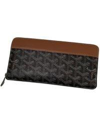 Goyard Matignon Black Cloth Wallet