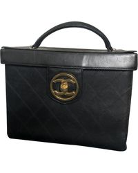 Chanel Leather Vanity Case - Black