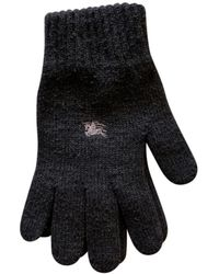 Burberry Wool Gloves - Gray