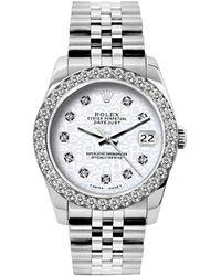 Rolex Lady Datejust 26mm White Steel Watch