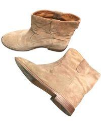 Isabel Marant Boots Crisi en Suede Camel - Multicolore