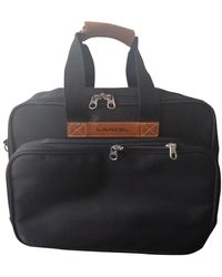Lancel - Vintage Black Cloth Travel Bag - Lyst