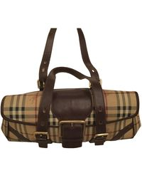 Burberry Leinen Handtaschen - Mehrfarbig