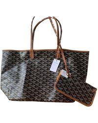 Goyard Saint-louis Cloth Handbag - Brown