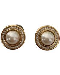 Dior Perles Perlen Ohrringe - Weiß