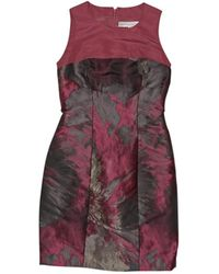 Carolina Herrera - Pink Silk Dress - Lyst