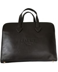 Loewe Cartable en cuir - Marron