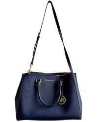 Michael Kors Sutton Leather Satchel - Blue