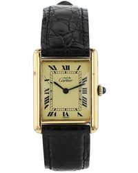 Cartier Tank Must Silver Gilt Watch - Multicolour