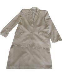 Burberry Skirt Suit - Natural