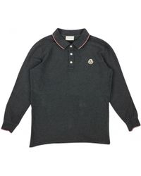 f0655da1 Moncler - Pre-owned Grey Cotton Polo Shirts - Lyst