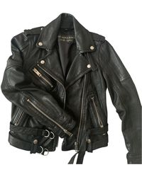 Burberry Leather Biker Jacket - Black