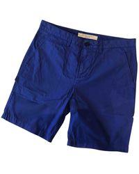 Burberry Shorts Baumwolle Blau