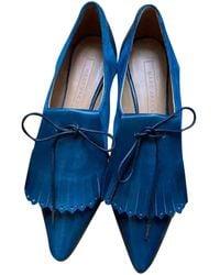 Marc Jacobs Leather Lace Ups - Blue