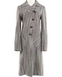 Chanel - Brown Viscose Coat - Lyst