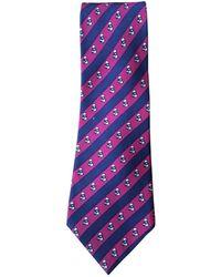 Hermès Corbatas en seda multicolor - Morado