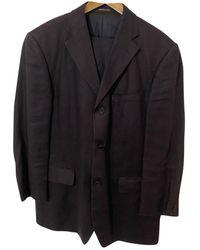 Balmain Leinen Anzüge - Blau