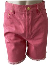 Chanel Pink Cotton Shorts