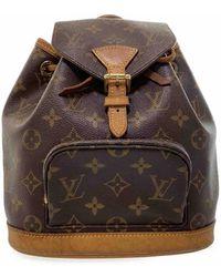 Louis Vuitton Montsouris Cloth Backpack - Brown