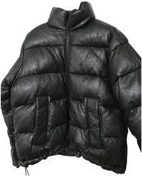 Sandro Fall Winter 2019 Leather Puffer - Black