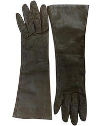 Hermès Leder Lange Handschuhe - Mehrfarbig