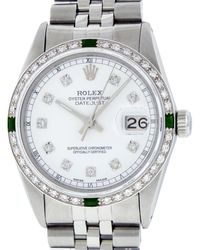 Rolex Datejust 36mm Uhren - Weiß