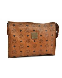 MCM Brown Leather Clutch Bag