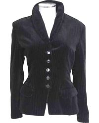 Alaïa - Pre-owned Black Cotton Jacket - Lyst