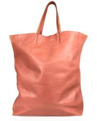 Céline - Cabas Leather Tote - Lyst