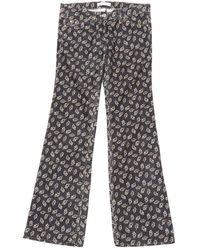 Étoile Isabel Marant - Navy Cotton Trousers - Lyst