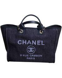 Chanel Deauville Shopper - Schwarz