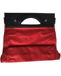 Lancel Bolsa de mano en sintético rojo
