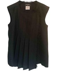 Chanel Wool Cardi Coat - Black