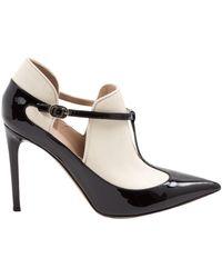 Valentino - White Leather Heels - Lyst