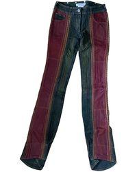 Dior Vintage Burgundy Cotton - Elasthane Jeans - Multicolor
