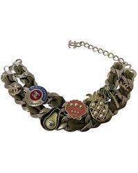 Chanel Collar en metal caqui - Multicolor