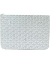 Goyard - Pre-owned Sénat White Cloth Clutch Bags - Lyst