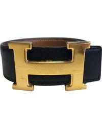 Hermès - H Black Leather - Lyst