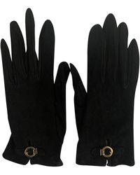 Hermès Guanti in pelle nero