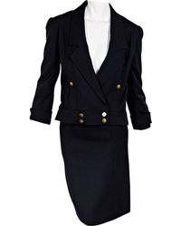 Chanel - Navy Wool - Lyst