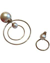 Dior - Gold Metal Earrings - Lyst