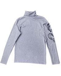 Balmain Pull.Gilets.Sweats en Coton Gris - Bleu