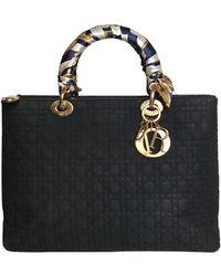 Dior Lady Leinen Handtaschen - Blau