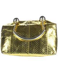 Versace - Pre-owned Vintage Gold Python Handbag - Lyst