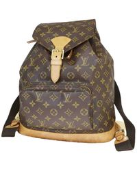 Louis Vuitton Mochila Montsouris de Lona - Multicolor