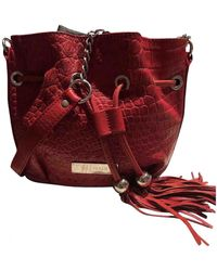 Balmain Leather Crossbody Bag - Red