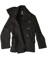 John Galliano Wool Peacoat - Black